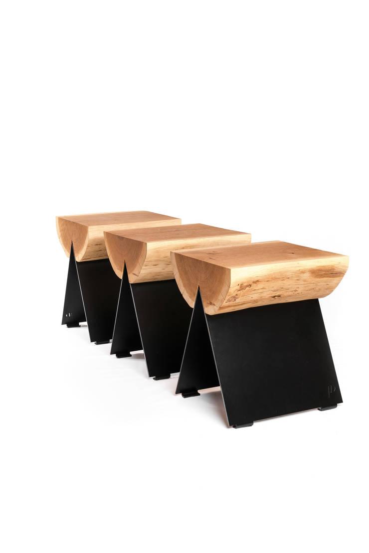 stołek 1/2: styl , w kategorii Łazienka zaprojektowany przez WITAMINA D