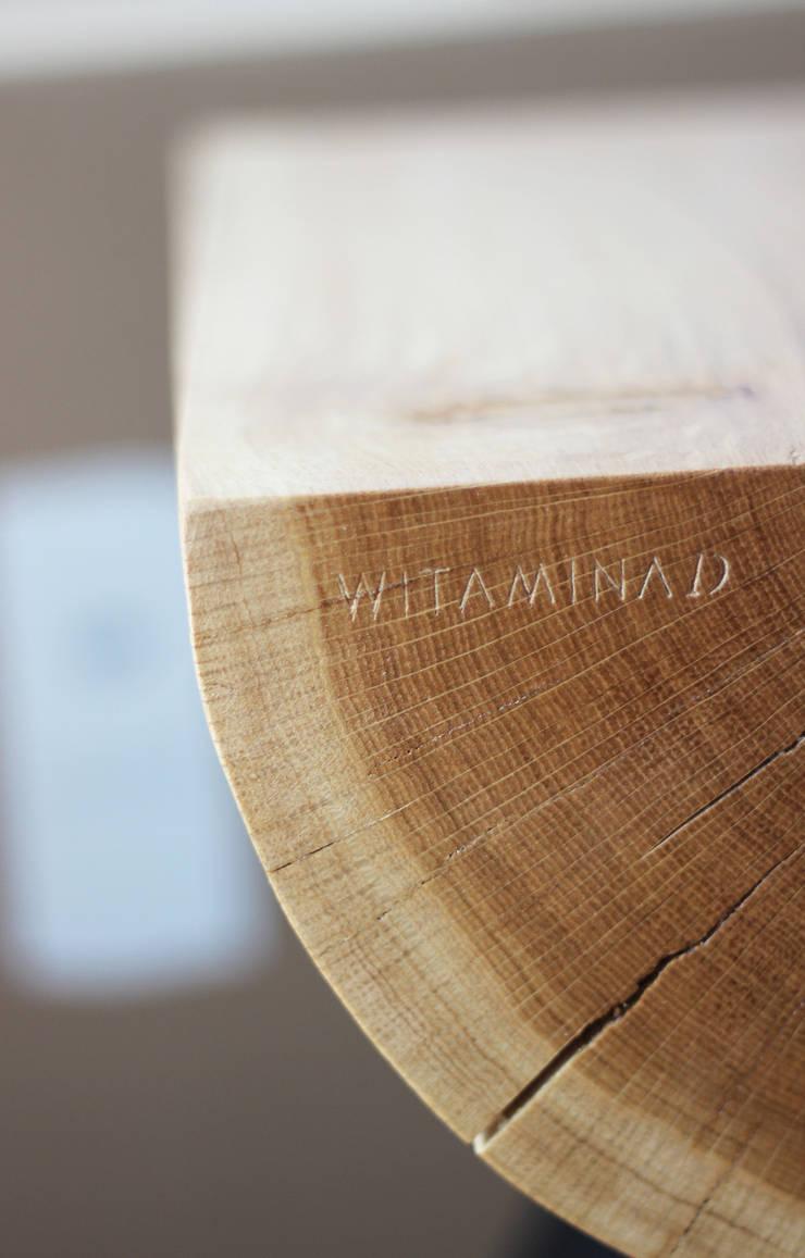 stołek 1/2 : styl , w kategorii Sypialnia zaprojektowany przez WITAMINA D