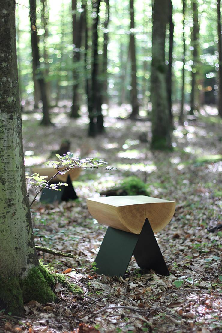 stołek 1/2: styl , w kategorii Ogród zaprojektowany przez WITAMINA D