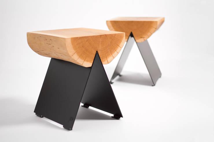 stołek 1/2: styl , w kategorii Korytarz, hol i schody zaprojektowany przez WITAMINA D
