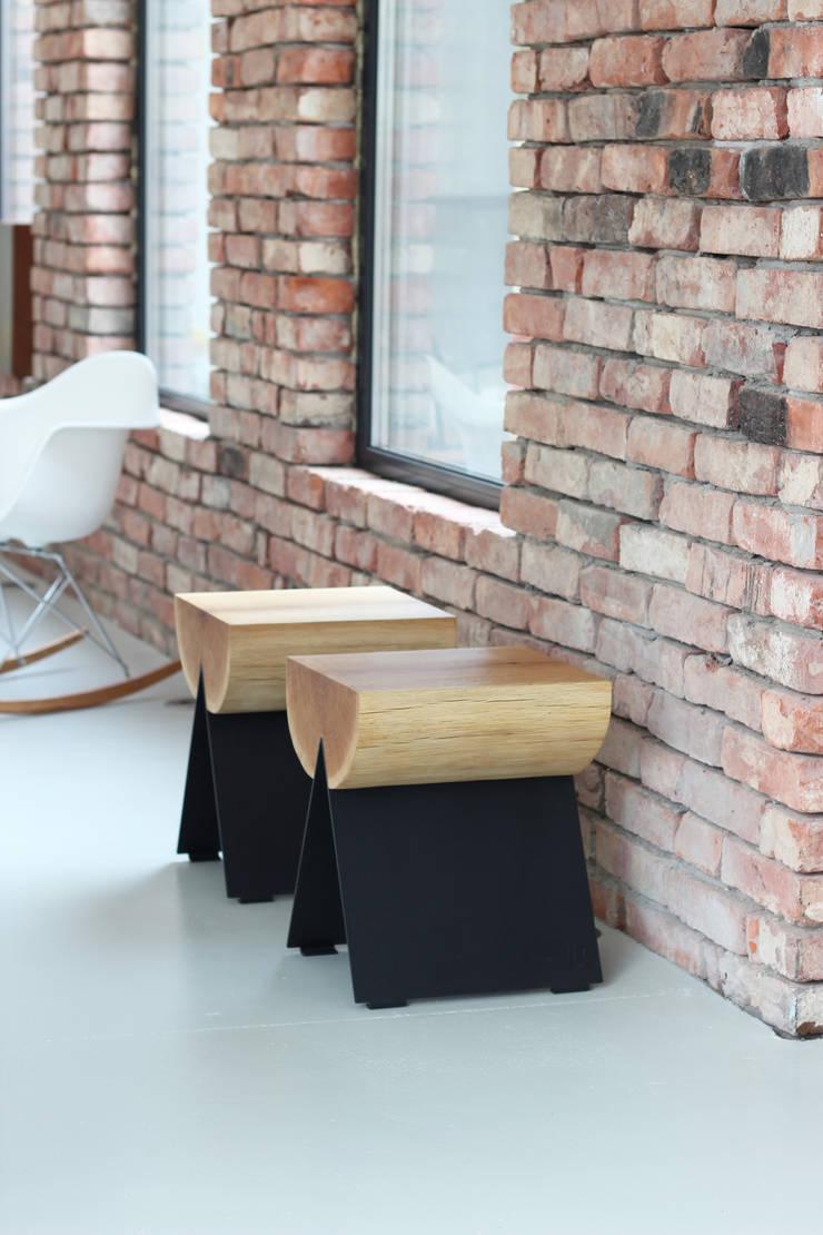 stołek 1/2: styl , w kategorii Salon zaprojektowany przez WITAMINA D