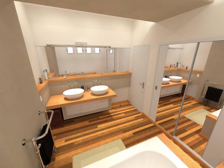 Salle de bain: Salle à manger de style  par ARtchidesign