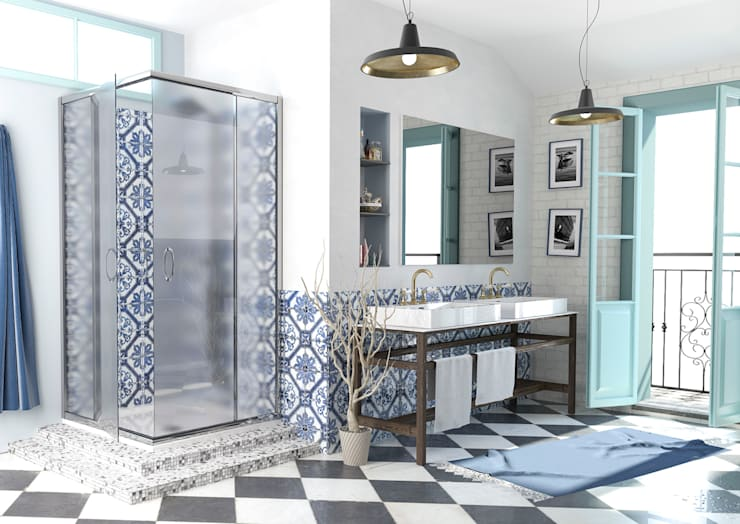 Un sogno mediterraneo: Bagno in stile  di RedLab Digitalarts
