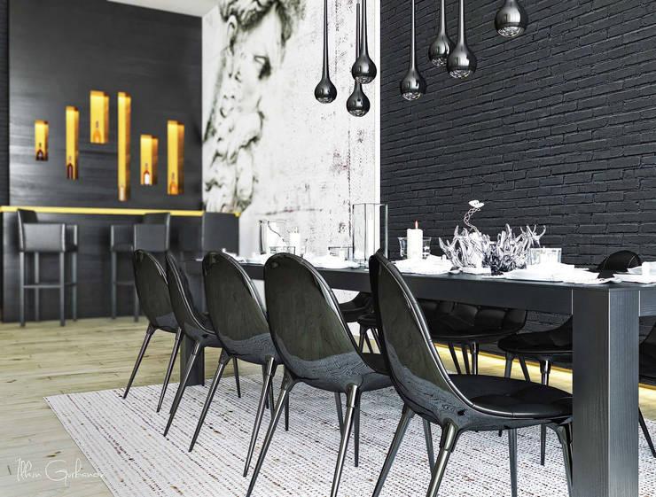 В гармонии с природой: Столовые комнаты в . Автор – ILKIN GURBANOV Studio