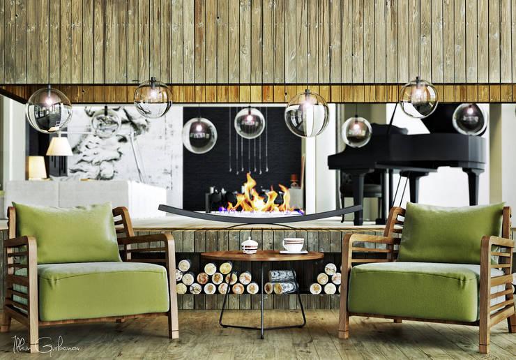 Projekty,  Salon zaprojektowane przez ILKIN GURBANOV Studio
