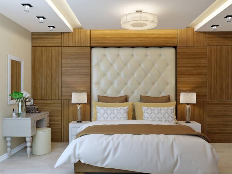 трехкомнатная квартира в г.Железнодорожном: Спальни в . Автор – 'Лайф Арт'
