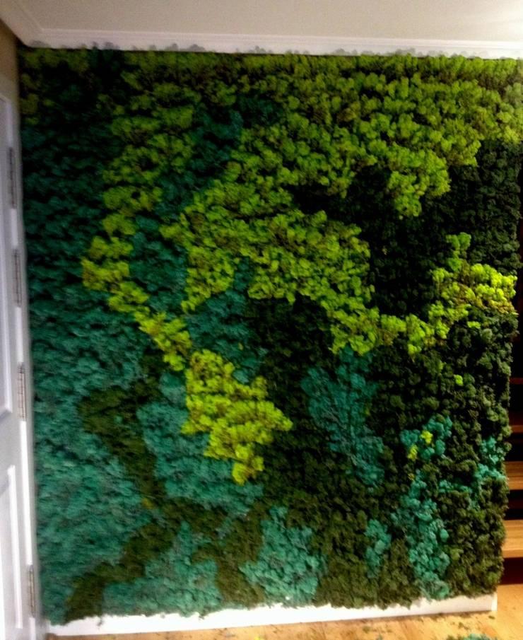 showroom de musgos nórdicos: Paisajismo de interiores de estilo  de thesustainableproject