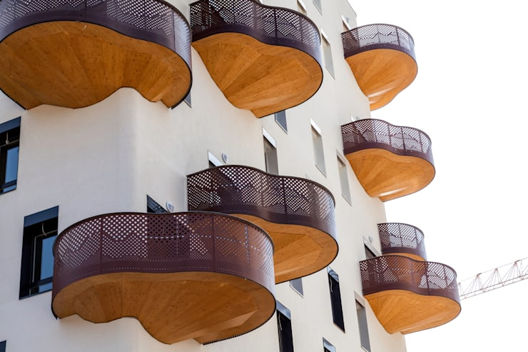Logements Quai de la Graille  – Grenoble : Locaux commerciaux & Magasins de style  par r2k achitecte