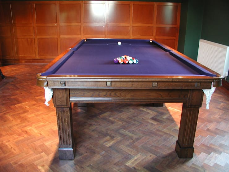 9 ft Fabio Snooker/Pool Table with purple cloth:  Dining room by HAMILTON BILLIARDS & GAMES CO LTD