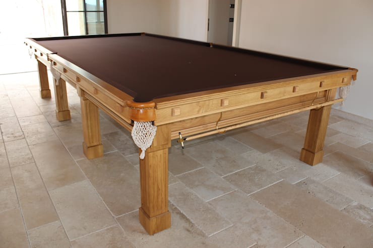 Full-Size (12' x 6') Fabio Snooker Table in oak.:  Dining room by HAMILTON BILLIARDS & GAMES CO LTD