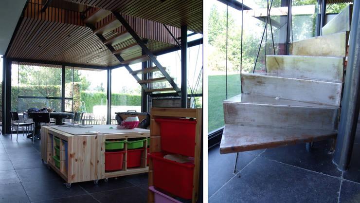 nouvel escalier intérieur:  de style  par VORTEX atelier d'architecture