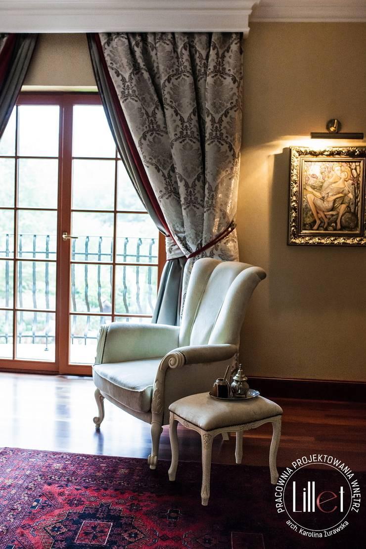 Stylowa sypialnia: styl , w kategorii Sypialnia zaprojektowany przez ATELIER LILLET Karolina Lewandowska