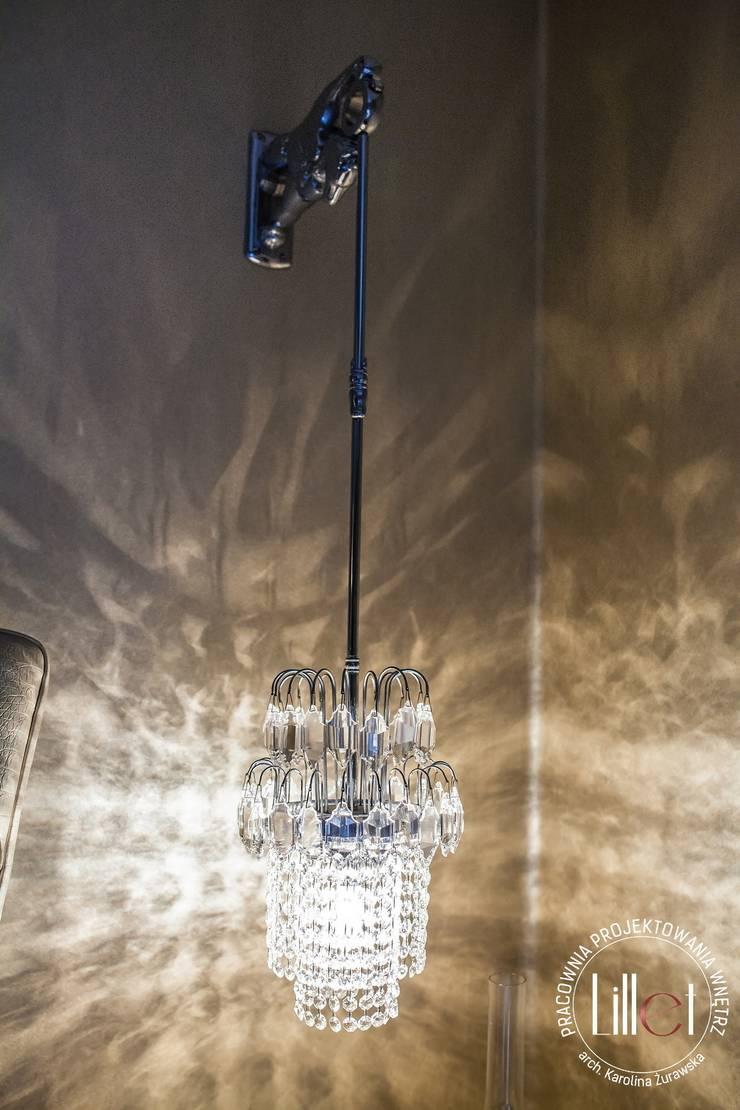 Lampa z kryształu: styl , w kategorii Sypialnia zaprojektowany przez ATELIER LILLET Karolina Lewandowska