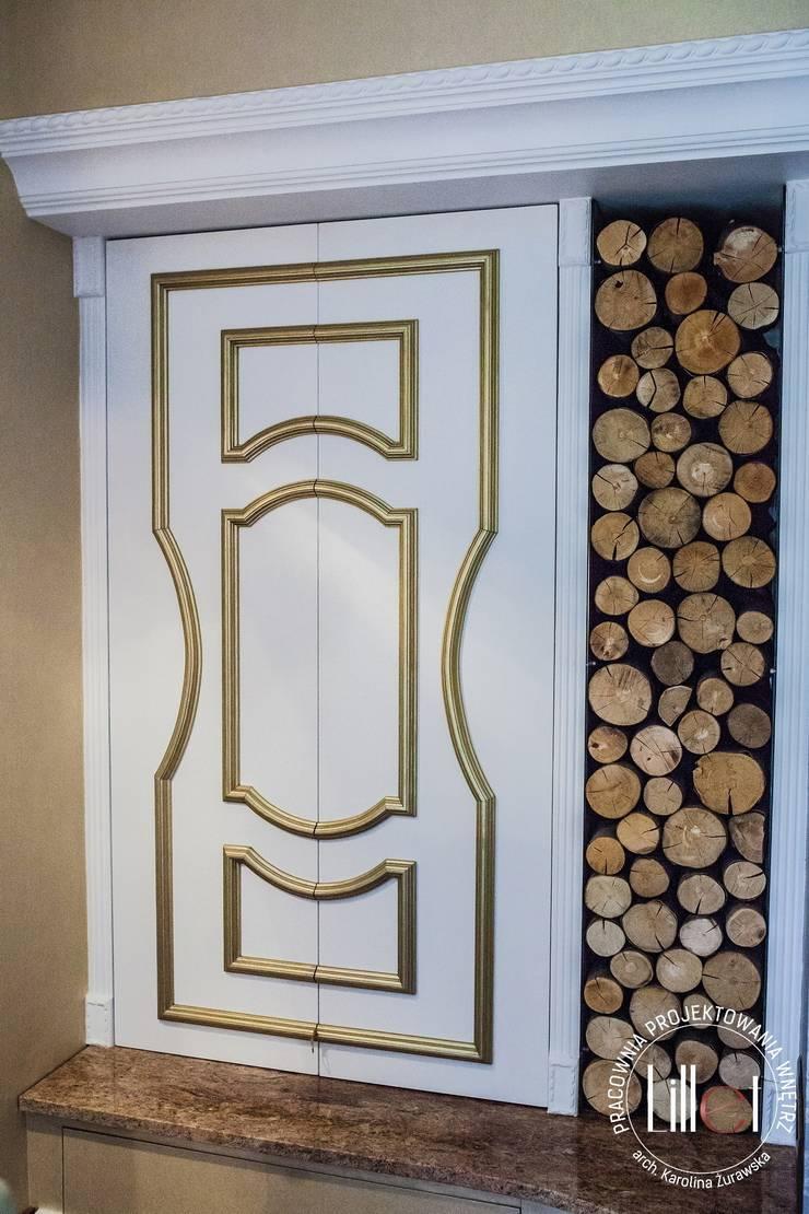 Zabudowa: styl , w kategorii Sypialnia zaprojektowany przez ATELIER LILLET Karolina Lewandowska