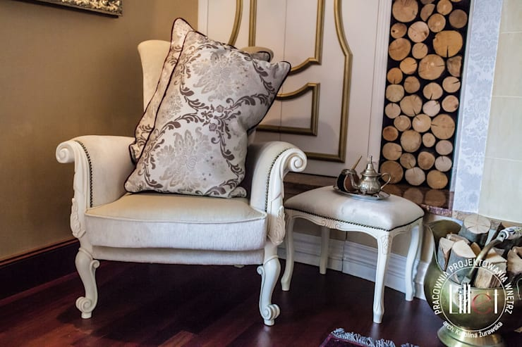Dodatki: styl , w kategorii Sypialnia zaprojektowany przez ATELIER LILLET Karolina Lewandowska