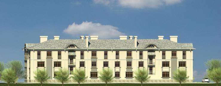 Фасад со двора: Дома в . Автор – Проектное бюро 'АДЕКО', г. Казань