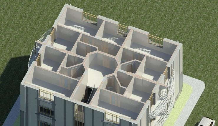 План 3-го этажа одноподъездного дома:  в . Автор – Проектное бюро 'АДЕКО', г. Казань