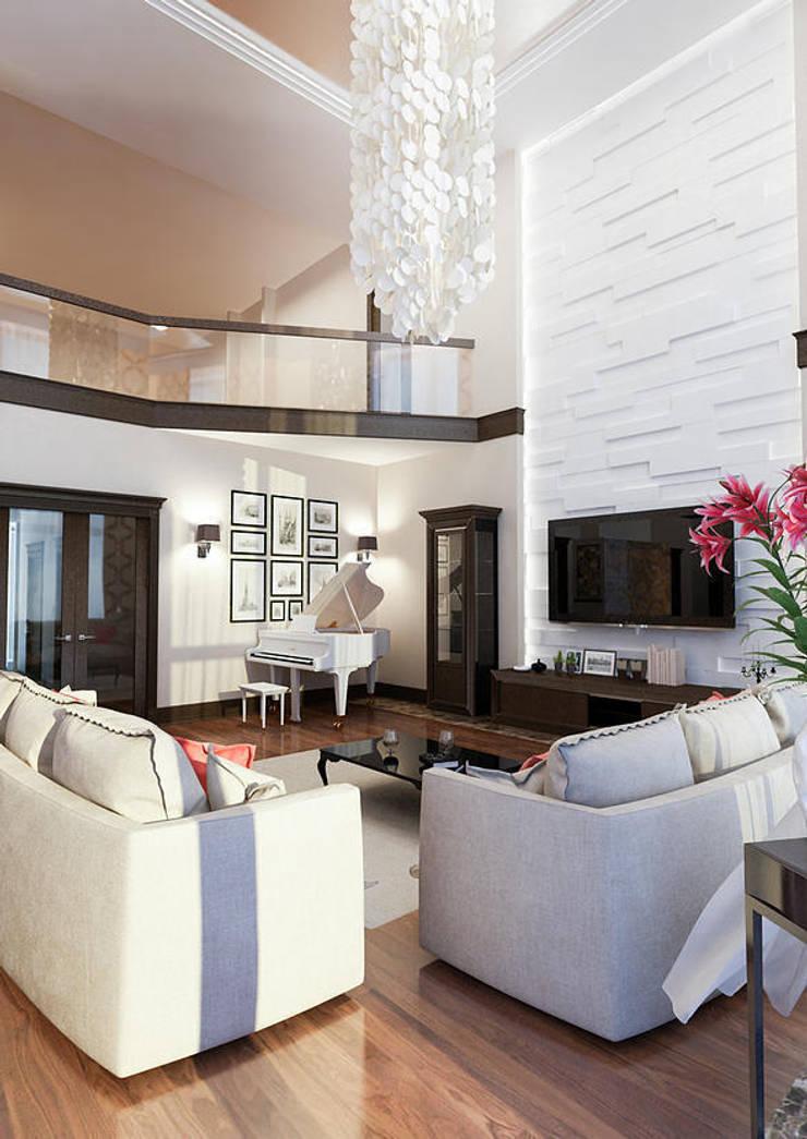 Salas de estar modernas por INTERIERIUM Moderno
