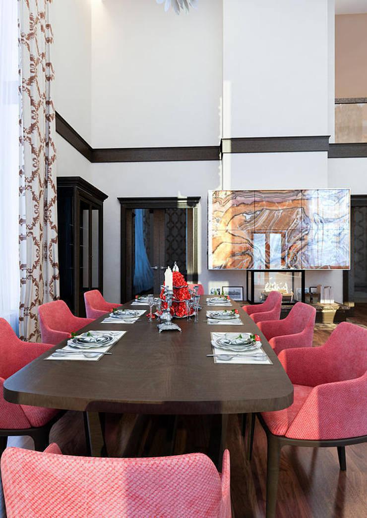 Salas de jantar modernas por INTERIERIUM Moderno