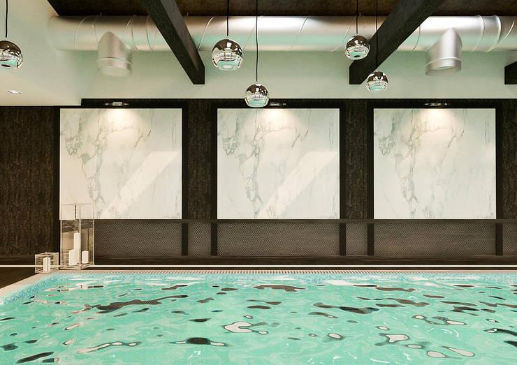 modern Pool by INTERIERIUM