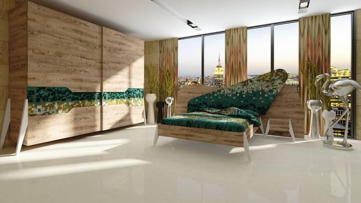 Inan AYDOGAN /IA  Interior Design Office – Moroso:The beauty of design bedroom: rustik tarz tarz Yatak Odası