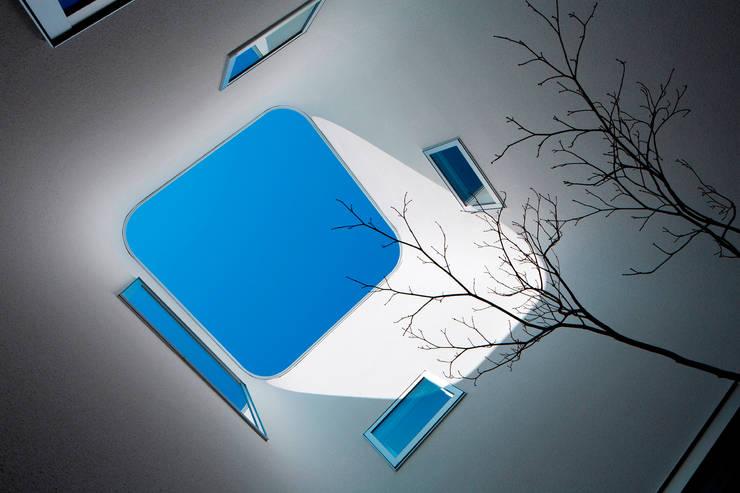 中庭(見上げ): ARCHIXXX眞野サトル建築デザイン室が手掛けた庭です。