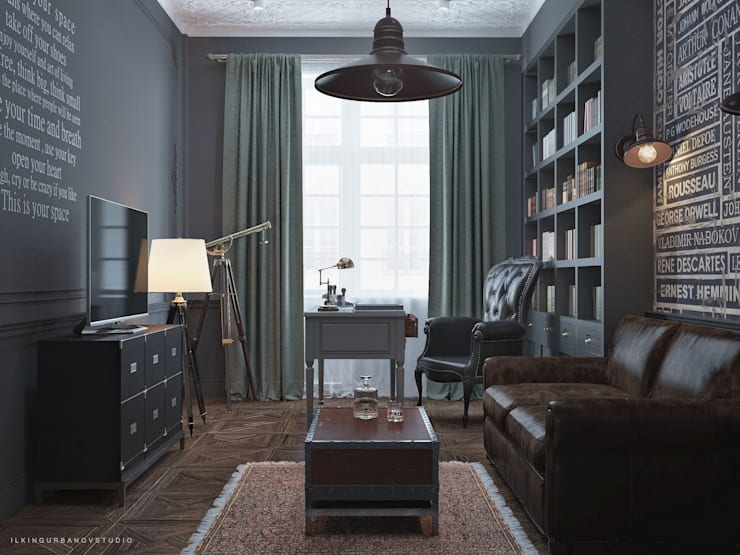 Дизайн кабинета в Баку: Рабочие кабинеты в . Автор – ILKIN GURBANOV Studio