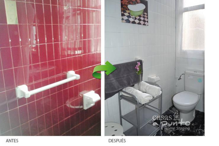 Renovar el baño es posible a bajo coste :  de estilo  de Casas a Punto home staging