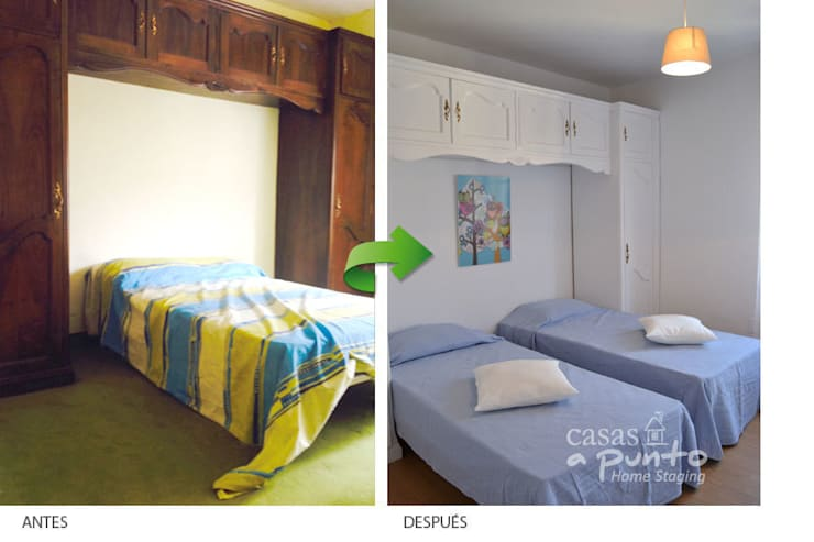 Renovar un armario antiguo. :  de estilo  de Casas a Punto home staging