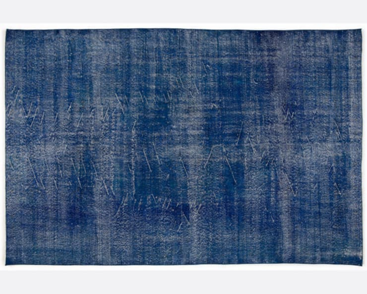 Vintage Handmade Over-dyed Rug In Blue 001:  Living room by All the hues