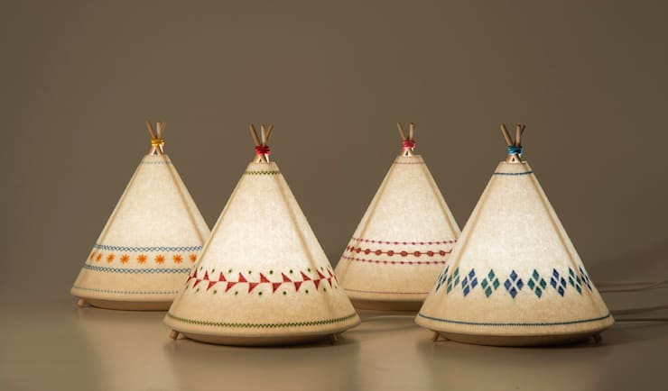 TIPI Lamp / BUOKIDS: Habitaciones infantiles de estilo  de Javier Herrero* Studio