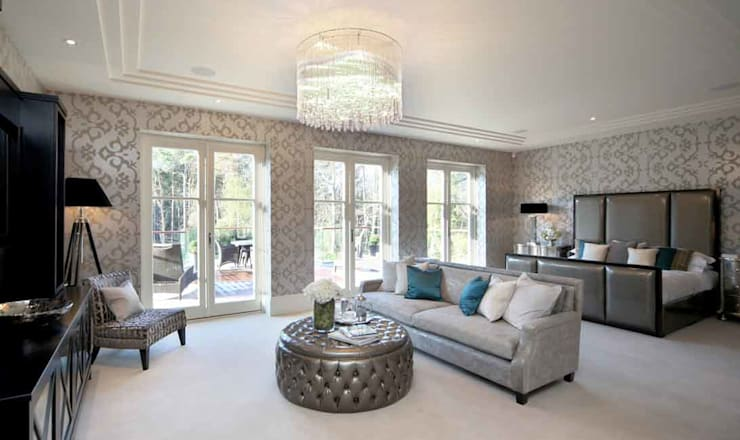 Project 7 Windlesham:  Bedroom by Flairlight Designs Ltd