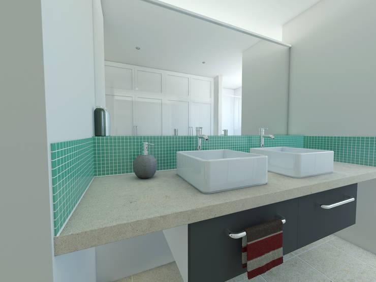 The Hawthorns, Wellington: modern Bathroom by OHA Architecture