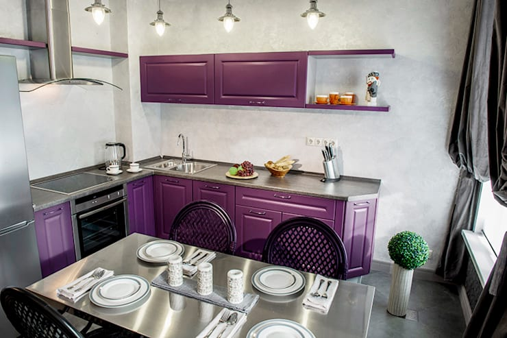 """Игра контрастов: Кухня в . Автор – Студия """"Сити Дизайн"""""""