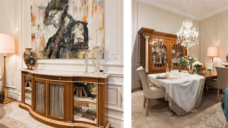Projects - selection of images: classic Dining room by Michele Longoni Interiors