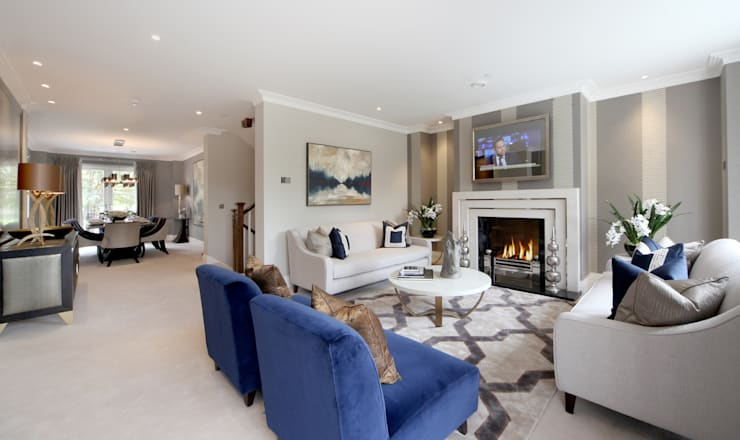 Project 6 Weybridge:  Living room by Flairlight Designs Ltd