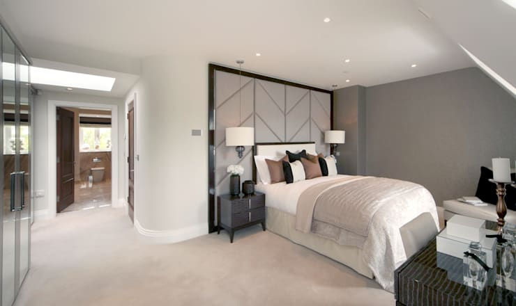 Project 6 Weybridge:  Bedroom by Flairlight Designs Ltd
