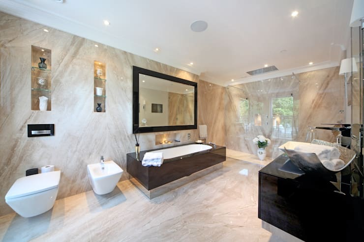 Project 6 Weybridge:  Bathroom by Flairlight Designs Ltd