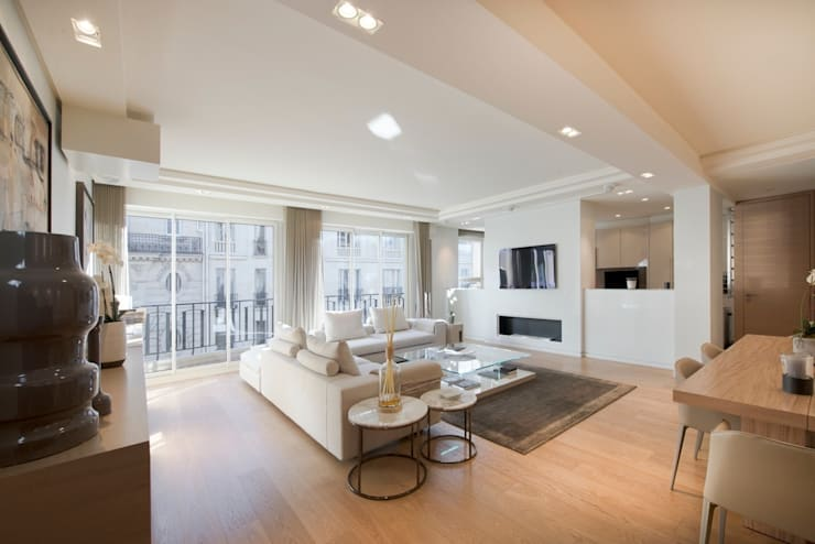 Appartement Paris XVI: Salon de style de style Moderne par Atelier TO-AU