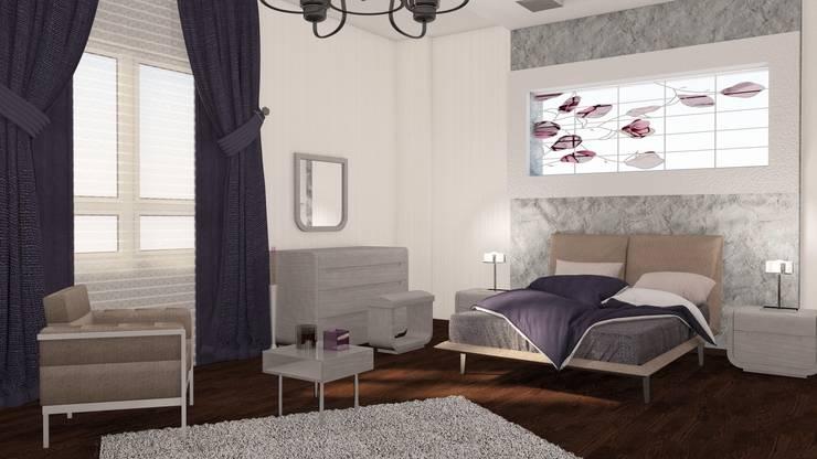 GÜNAY MİMARLIK – SAFİR KONAKLARI EBEVEYN YATAK ODASI:  tarz Yatak Odası