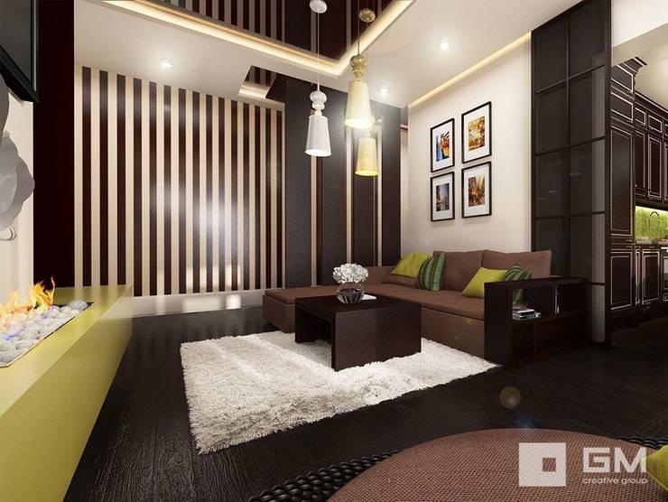 Дизайн интерьера 2-х комнатной квартиры на ул. Лобачевского : Гостиная в . Автор – GM-interior