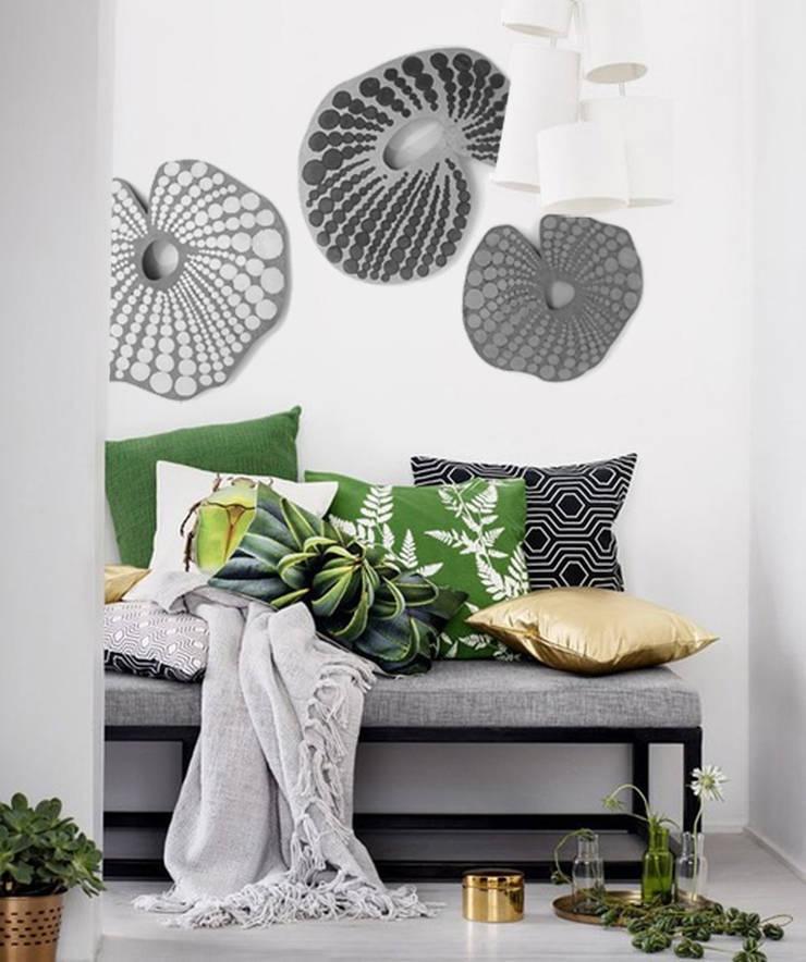 TRYPTIQUE NAUTILES GRIS:  de style  par VERO REATO / BÉTON DE CULTURE, Moderne