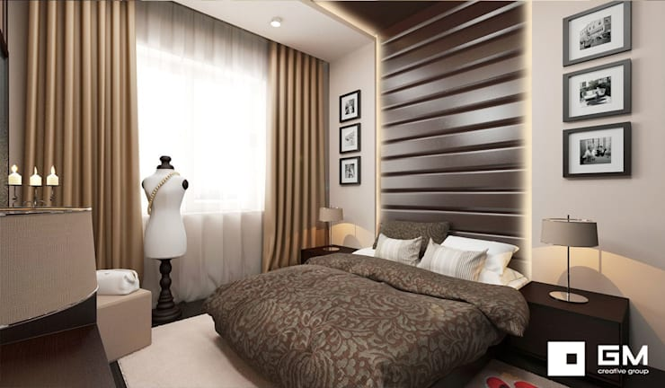 Дизайн интерьера 2-х комнатной квартиры на ул. Лобачевского : Спальни в . Автор – GM-interior
