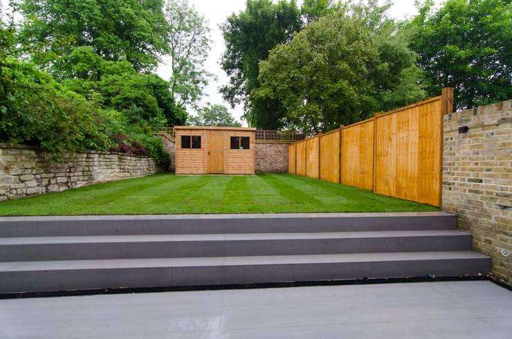 Hampstead development:  Garden by London Refurbishments