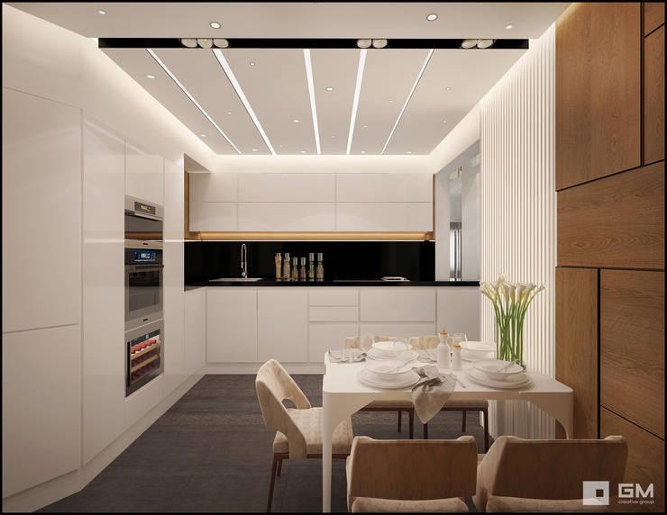 Дизайн интерьера квартиры в г.  Долгопрудный: Кухни в . Автор – GM-interior