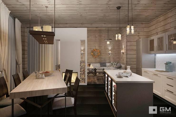 Дизайн интерьера дома в стиле шале : Кухни в . Автор – GM-interior