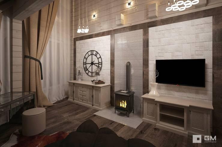 Дизайн интерьера дома в стиле шале : Спальни в . Автор – GM-interior