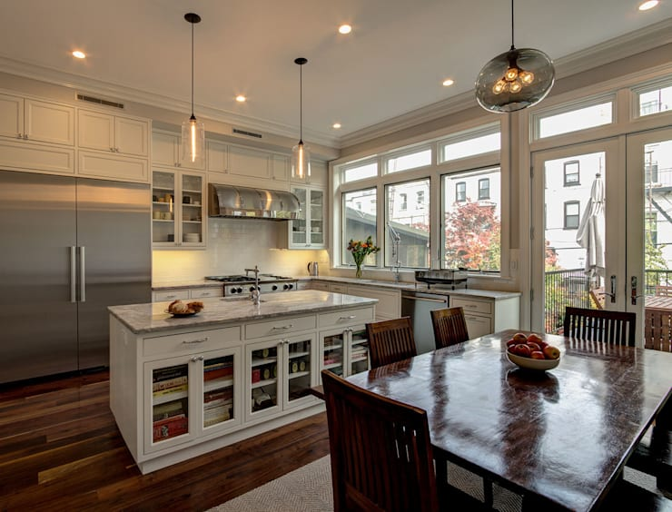 Park Slope Brownstone 3:  Kitchen by Ben Herzog Architect