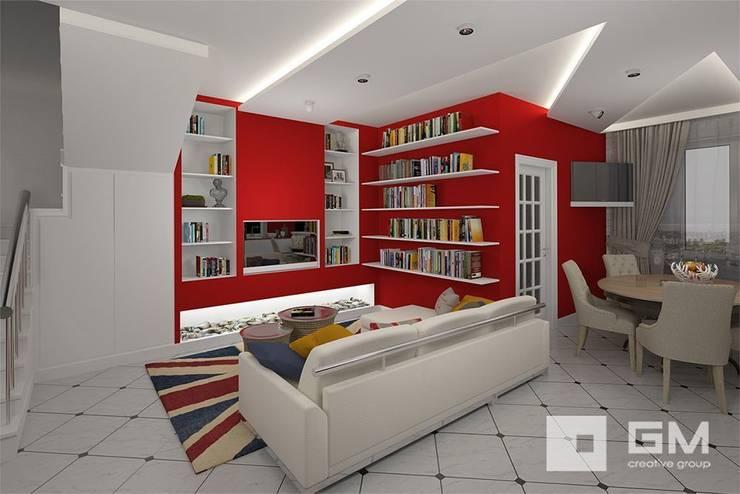 Дизайн интерьера таунхауса в пос. Бристоль 2 : Гостиная в . Автор – GM-interior