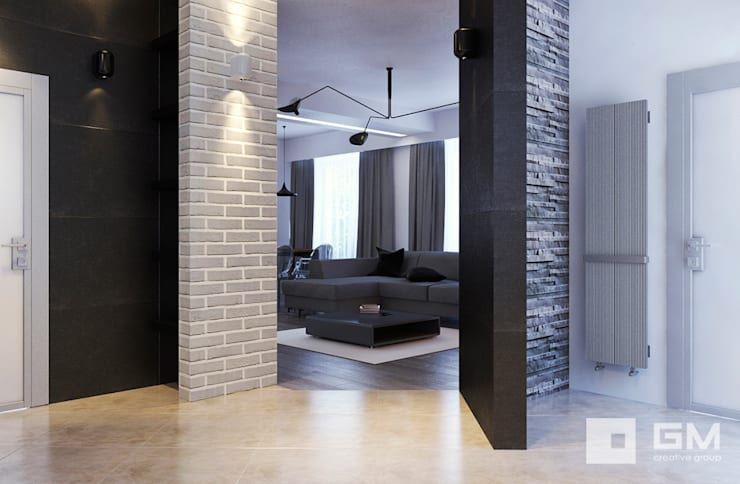 Дизайн интерьера дома по Дмитровскому шоссе,  Горки : Гостиная в . Автор – GM-interior